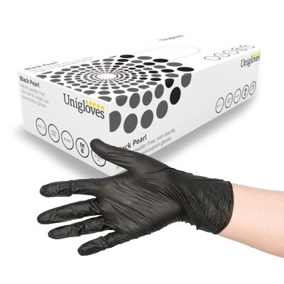 Uniglove Black Nitrile Gloves